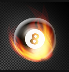 billiard ball realistic billiard ball 8 in vector image vector image