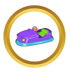 Bumper car in amusement park icon vector