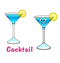 Cartoon cocktail character vector image