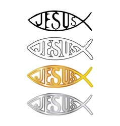 Christian fish symbol vector