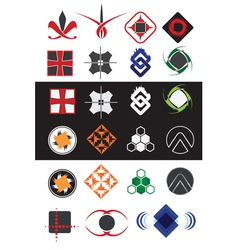 creative symbols design elements collection vector image vector image