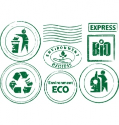 eco rubber stamp vector image
