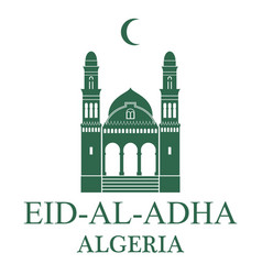 Eid al adha algeria vector