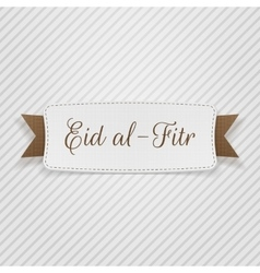 Eid al-fitr decorative greeting tag vector