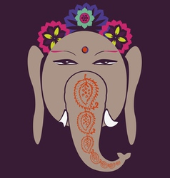 Ganesh and lotuses happiness symbol vector image