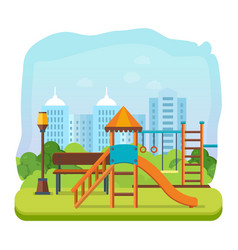 kids playground park of entertainment vector image