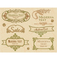 Modern vintage items set vector image vector image