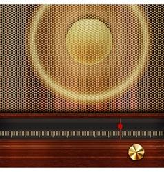 music background with retro radio elements vector image