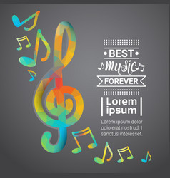 notes music concert banner colorful modern musical vector image vector image