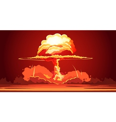 Nuclear Explosion Mushroom Cloud Retro Poster vector image vector image
