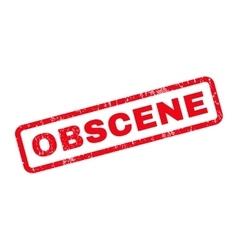 Obscene Rubber Stamp vector image vector image