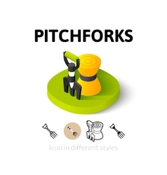 Pitchforks icon in different style vector