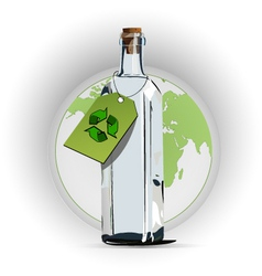 Recycle glass vector