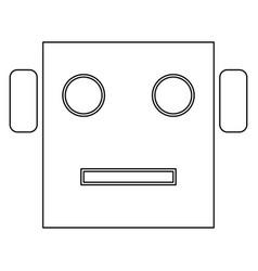 Robot head icon vector