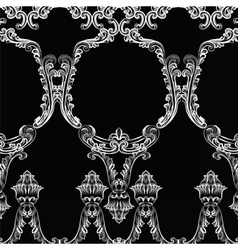 Rococo frame decor pattern vector image vector image