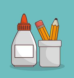 School elementes isolated icon vector