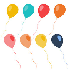 set of colorful celebration balloons vector image