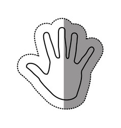 silhouette hand icon image vector image