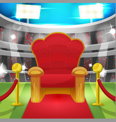 Theater luxury chair sport stadium vector