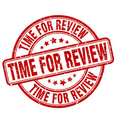 Time for review vector