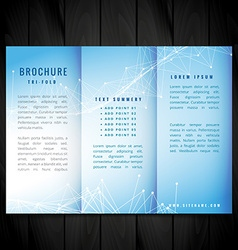 Blue trifold brochure design vector