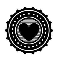Heart emblem icon image vector
