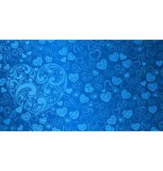 Background of big and small hearts vector