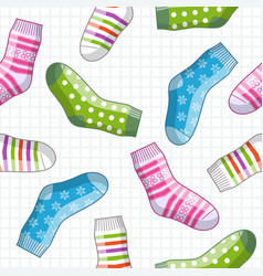 Pattern with socks vector