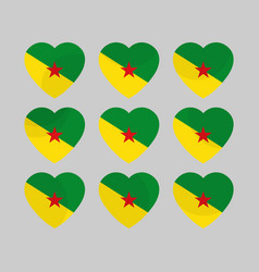 Heart icons with the flag of suriname i love vector
