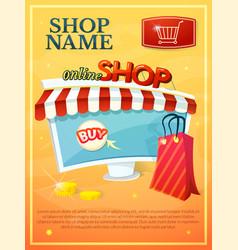 Online shop vector