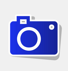 Digital camera sign  new year bluish icon vector