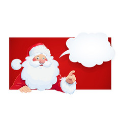 Santa claus with speech vector