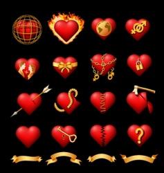 volumetric hearts vector image