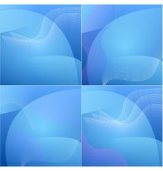Set of colour elegant abstract blue background vector