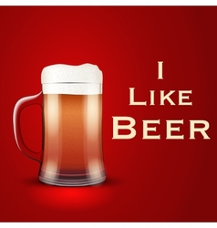 I like beer vector