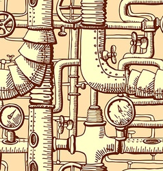 Seamless pattern steampunk vector