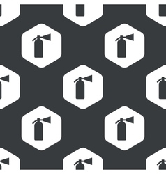Black hexagon fire extinguisher pattern vector image