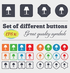 Lamp icon sign big set of colorful diverse vector