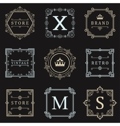 Set logos and ornament vector