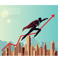 Business Superhero for start up vector image