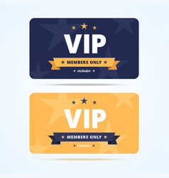 Vip club cards vector image