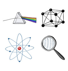 Atom and prism magnifier and crystal lattice vector