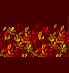 autumn leaf fall geometry modern motif vector image vector image