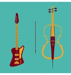 Bass and cello vector image
