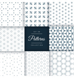 Beautiful minimal pattern pack collection in 8 vector