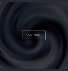 Black creamy swirling background vector