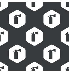 Black hexagon fire extinguisher pattern vector