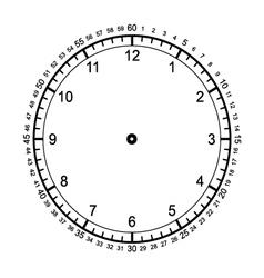 Blank clock vector