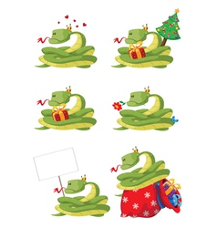 collection snake vector image vector image