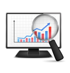 Computer monitor with graph vector